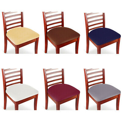 Set Of 2 4 6 8 Stretch Removable Washable Dining Room Chair Seat