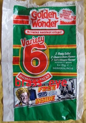 Dr Doctor Who Golden Wonder Original multi-pack green bag Colin Baker 1980s RARE