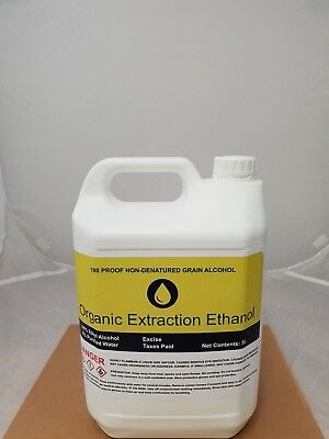 ORGANIC EXTRACTION ETHYL From Non-GM Organic Wheat ethanol 5ltr 10ltr 15ltr 20l