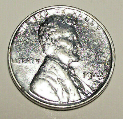 1943 Lincoln Wheat Cent - Steel, Zinc Coated  (Lot A903) See Photos!