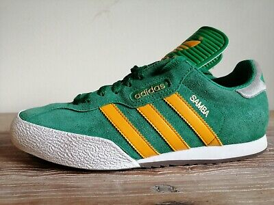low priced 20d1c 92612 Mens Adidas Green Samba Super Trainers Uk 8 Originals Beckenbauer Gazelle  Kick