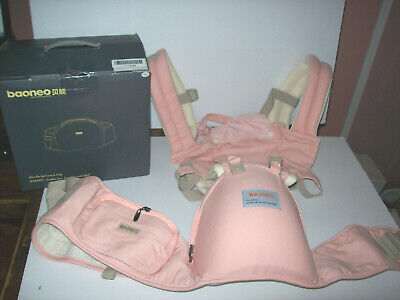 Baoneo Ergonomic 360°Baby Carrier Fits New born & Toddler Hip Seat - pink NEW