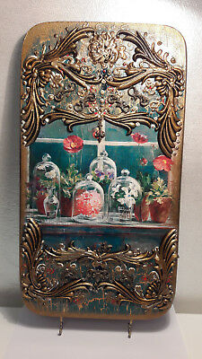 Beautiful restored wooden picture frame and hand drawn vintage from ex CCCP/URSS