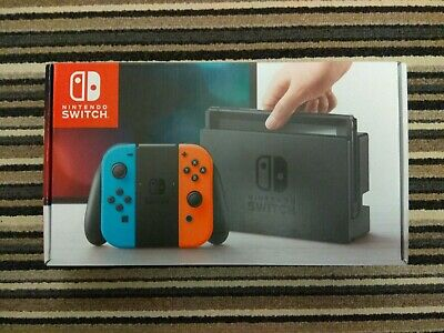 Nintendo Switch Neon Red and Blue NEW Unused