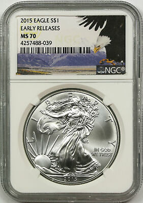 2015 $1 American Silver Eagle NGC MS70 Early Releases