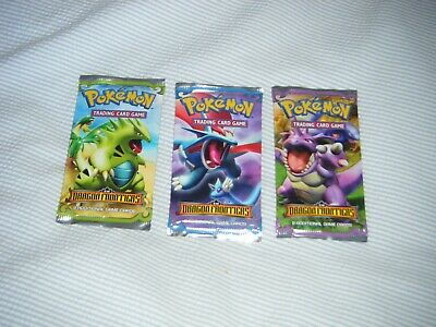 WOTC Pokemon Ex Dragon Frontiers, 3 booster packs, new, sealed