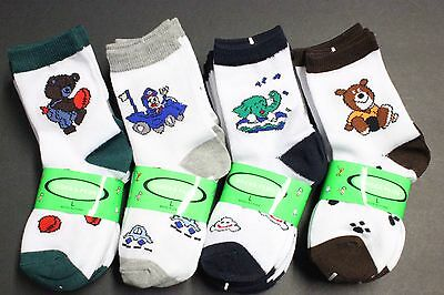 5 Pairs Youth Fashion Ankle Crew Socks BOY'S/GIRL'S fit shoes 6 TO 11 , 12 - 3