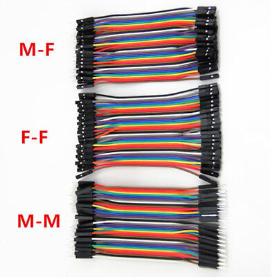"4.33""Male to Female Dupont wire cables Jumpers Cable Breadboard For Arduino 120*"