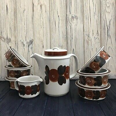 Arabia Finland Rosemarin coffee set, vintage ceramic dinnerware Scandinavian