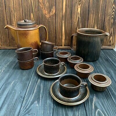 Arabia Ruska coffee/tea set, Finland vintage ceramic, antique set Arabia