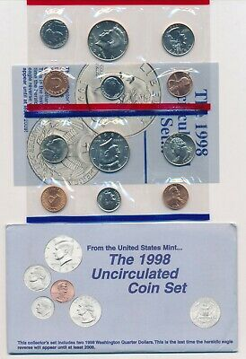 1998 Birth Year Uncirculated Mint Coin Set