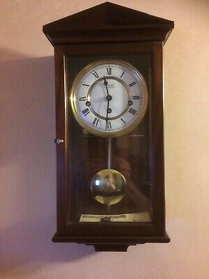 Comitti Of London 1990 Pendulum Westminster Chimes Wall Clock 3 Day Movement Vgc