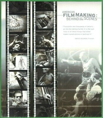 American Film Making sheet of ten 37 cent stamps from 2003, Scott #3772