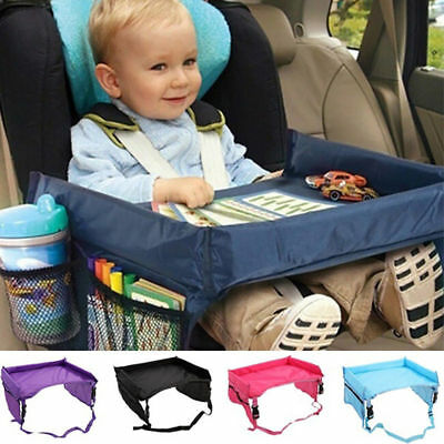 Baby Safety Car Seat Table Kids Snack Plate Play Child Travel Drawing Board Tray