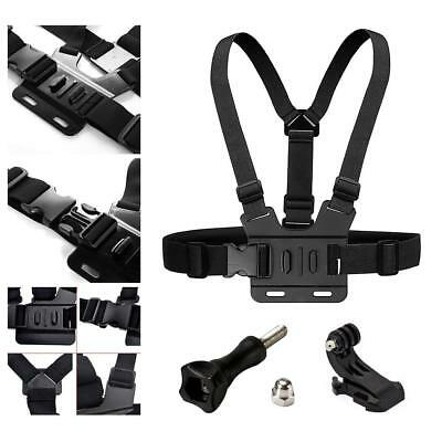Adjustable Go Pro Chest Strap Mount Elastic Action Camera Body Belt Harness NEW