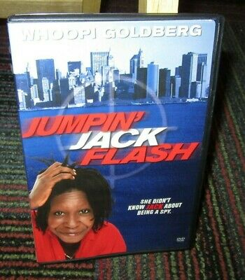 Jumpin' Jack Flash Dvd Movie, Whoopi Goldberg, John Lovitz, Jim Belushi, Ws & Fs
