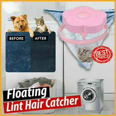 Floating Pet Fur Catcher Filtering Hair Removal Device Wool Cleaning 2pcs