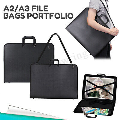 A2/A3 Portfolio Artist Drawing Board File Organiser Office Document Carry Case