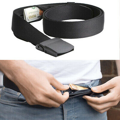 Travel Security Belt Hidden Money Pouch Money Wallet Pocket Waist Belt Safe US