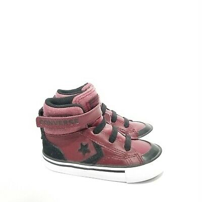 8f96a79c160f New Converse Toddler 7 Pro Blaze High Top Sneakers Burgundy Hook and Loop  Close
