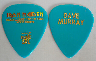 Official DAVE MURRAY IRON MAIDEN Somewhere Back in Time Tour GUITAR PICK