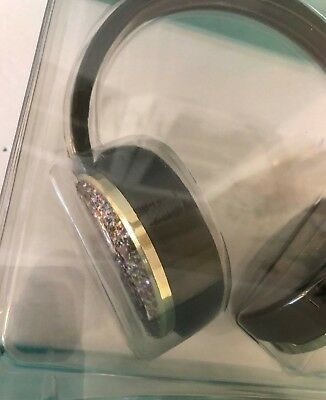 Kate Spade Bluetooth Wireless Headphones New In Box Glitter Includes Travel Case