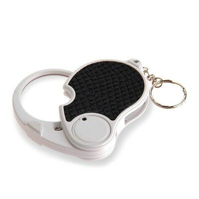 5 Trade Loupe Magnifying Glass with LED Lamp Pocket Magnifier Portable Fold A4T2