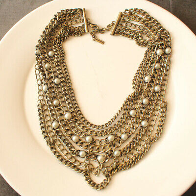 """18"""" New Baublebar Collar Statement Necklace Gift Vintage Women Party Jewelry FS"""