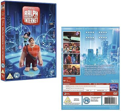 RALPH BREAKS THE INTERNET (2018): Sequel, Animation, Comedy - NEW Rg2 DVD not US