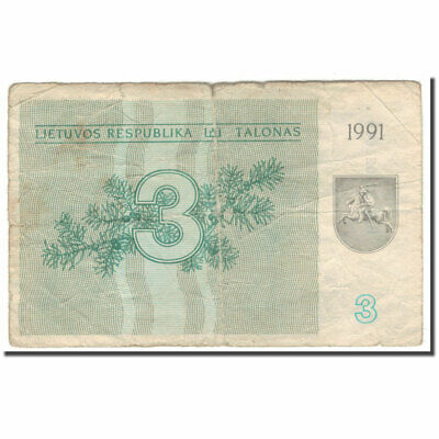 .1 to .5 Talonas Knight on horse UNC 1991 $10 CV! P29-31 Lithuania 3 note set
