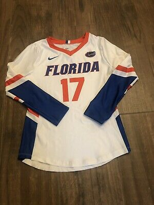 NIKE FLORIDA GATORS VOLLEYBALL LONG SLEEVE JERSEY 915027-100 Girls M