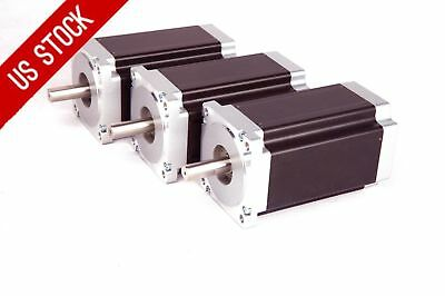 【US Free Ship】 Stepper Motor 3PCS Nema23HS9430B dual shaft 425oz.in 3A CNC LONGS