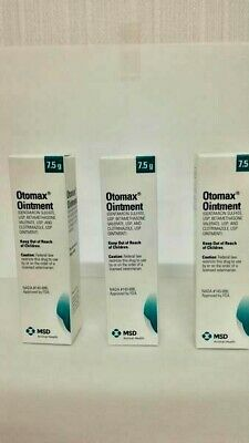 Otomax Ointment for otic use in Dogs only 7.5g  3Boxs EXP10-2020 Free Shipping !