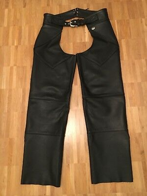 Original Harley Davidson Leather Chaps Made in USA! Men's Size L