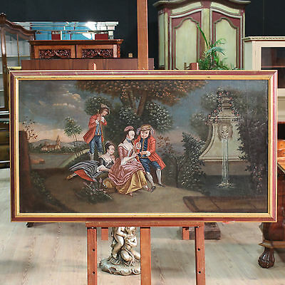Antique painting paesaggio romantic with shapes oil on canvas venetian 800