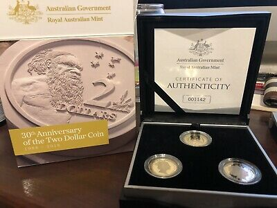 2018 $2 30Th Anniversary Of $2 3 Coin Proof Set Mintage 1,988 Limited Edition
