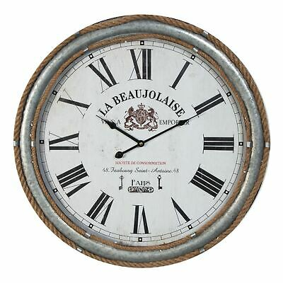 Hometime MDF Round Wall Clock Deep Case Roman Dial 60cm - W7486