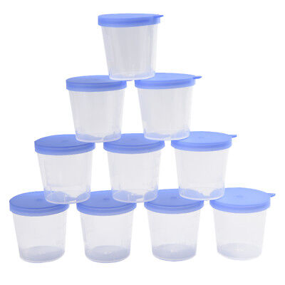 40ml Lab stool sample collection cup hard plastic urine test collection box R SF