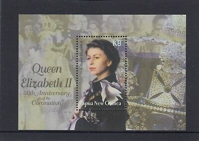 PAPUA NEW GUINEA  2003 50th Anniversary of QUEEN's Coronation 8 K MINISHEET  MNH