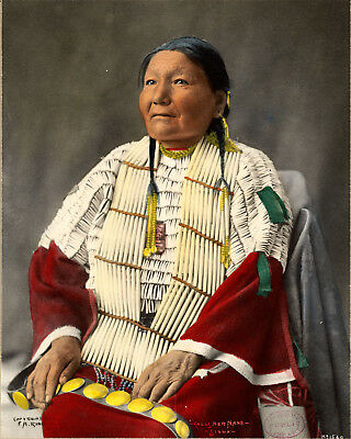 1898 Calls Her Name Sioux Female Native American Indian Art Poster Print History