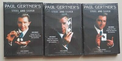 Paul Gertner  Steel & Silver Best Award Magic Tricks 3 DVD Complete Set of Magic