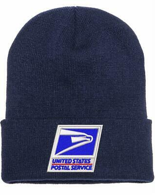 USPS Postal Service Navy Blue Beanie Hat/Cap  WINTER HAT FREE SHIPPING