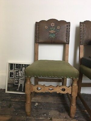 Six Vintage Dining Chairs Spanish Revival