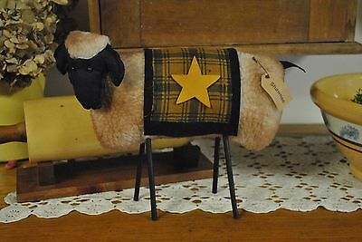 """New Primitive Country Shawnee Sheep Home Decor 11"""" X 8"""""""