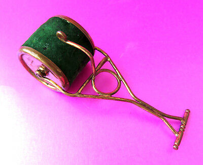 Antique Rare  Sewing Pin Cushion.in The Design Of A Garden Roller.