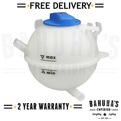 Coolant Header Expansion Tank And Cap For Skoda Rapid, Superb, Yeti, Octavia Mk2
