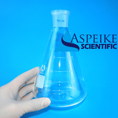 500ml,Lab Glassware Erlenmeyer Flask,Groud Joints 24/29,Lab Triangle flask S