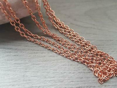 5/10/20 FOOT of Genuine Copper OVAL Cable Chain, 3.4 x 4.6mm links