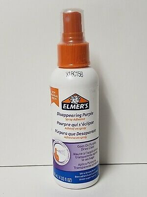 Elmer's® Spray Adhesive, Disappearing Purple, 4 Oz Non Toxic Solvent Free