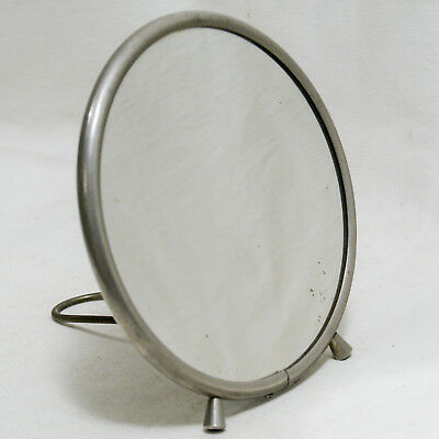 Glace De Voyage Toilette Rasage Miroir Art Deco Round Folding Travel Mirror